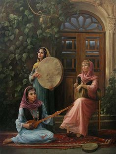 A great painting from a contemporary Iranian painter Fakhreddin Mokhberi