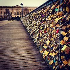 a Lock to the Pont des Arts Bridge in Paris Bucket list: add a lock to the Love Lock Bridge in Paris. Ashlyn, this reminds me of you!Bucket list: add a lock to the Love Lock Bridge in Paris. Ashlyn, this reminds me of you! Mykonos, Santorini, Love Lock Bridge Paris, Paris Bridge, Trianon Palace Versailles, Places To Travel, Places To See, Oh Paris, Before I Die