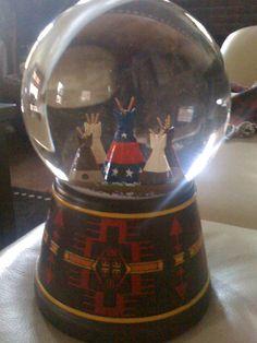 Native American: Snow globe