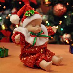 Xmas Ceramics Bobblehead Doll Music Box-Chrismas Eve - New Arrivals- - TopBuy.com.au