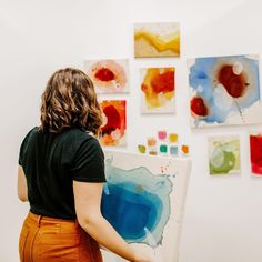 """Take a step back. I had a painting professor who emphasized how important it was to get our nose out of our work and look at it from the other side of the room. Every 30-45 minutes he would say """"Step back"""" and we would all take a moment and look at our art as a whole instead of that small part we were working on. """"Step back, Amanda. Look at the whole. Are you painting the picture of what you want your life to be?"""" 📸: @lucybphotography Artist Workspace, Abstract Pattern, Photo Wall, In This Moment, Professor, Frame, Amanda, Painting, Patterns"""