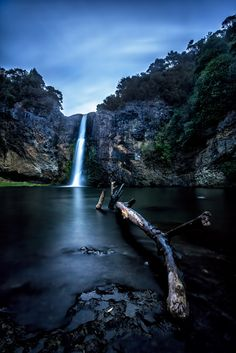 pomposidadpomposa:  Waterlogged - Hunua (by waltmanNZ) ♥ More landscapes here ♥ Long exposure shot taken at Hunua falls - just outside of Auckland, New Zealand,