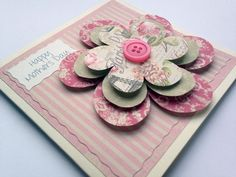 #crafthour #womaninbizhour #onlinecraft Also new this week, pretty 3D flower card :-) Mothers day ideas x