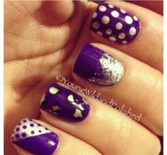 Purple nails love this!