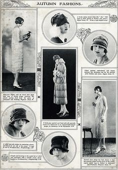(1910s & 1920s) Autumn Fashions from The Illustrated London News, October 1926  Fashion Plates: Illustrating History's Latest Styles, 1760-1920s