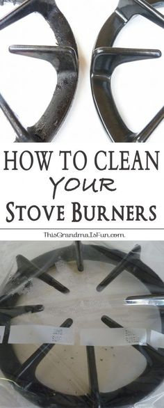 how to clean stove top burners with ammonia