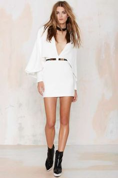 Oh My Love My Girl Crepe Cape Dress