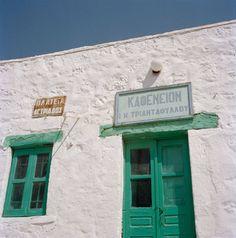 Greek cafe by Katina Houvouras Greek Cafe, Cafe Sign, Recipe For Mom, Ancient Greece, Archipelago, Amusement Park, Greece Travel, Beautiful Islands, Greek Islands