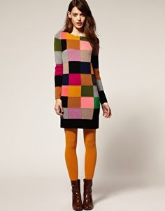 Awesome knitted dress!