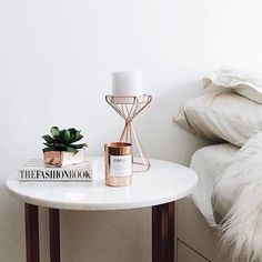 Bedside details via @arushikhosla Shop our amazing range of 'Cocolux' candles via the link in our bio #peppermayo by peppermayo
