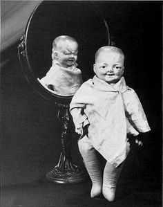 Doll baby mirror monster