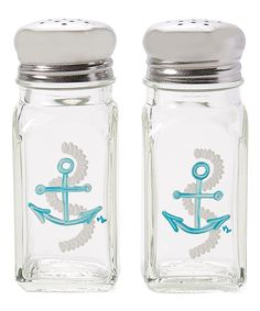 Take a look at this Aqua Nautical Anchor Large Salt & Pepper Shakers today!