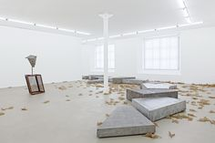 There are Places│A River in the Trees, Martin Boyce Installation Art, Art Installations, Concrete Design, In The Tree, Contemporary Artists, Design Art, Dining Table, Architecture, Furniture
