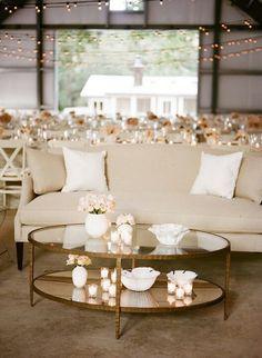 Beautiful barn wedding with seating area