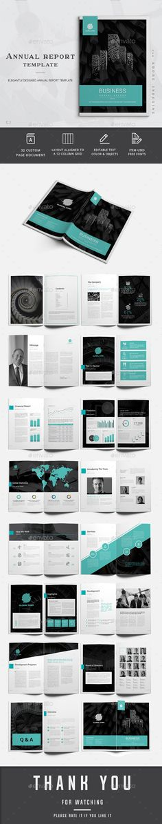 Annual Report Template Annual reports, Template and Brochures - business annual report template