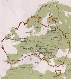 Australia compared to Europe.