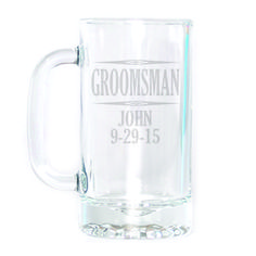 Beer Mug - Groomsman Personalized