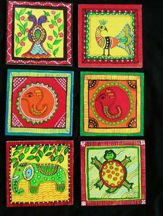 Madhubani Painting Coasters
