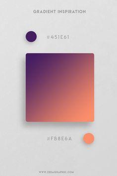 16 Beautiful Color Gradient Inspiration Part 3 Flat Color Palette, Colour Pallete, Color Schemes, Color Palettes, Web Design, Design Color, Brand Design, Design Trends, Graphic Design Projects