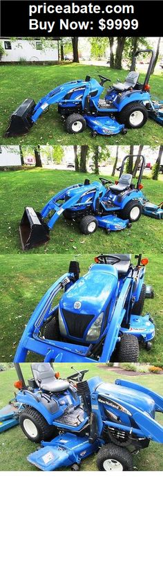 Heavy-Equipments: 2006 NEW HOLLAND TZ25DA COMPACT TRACTOR W/ LOADER & BELLY MOWER. GOOD MACHINE! - BUY IT NOW ONLY $9999