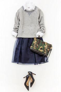 ルミネ新宿 ルミネ1の店頭アイテムで、シャツが主役の着こなしに挑戦!白シャツの襟を効かせて、旬のガーリースタイルに。人気スタイリスト入江未悠さんが「大人かわいい」をテーマに、上品でまねしやすいスタイリングを提案します!