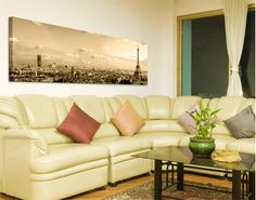 Love the panorama canvas art. Maybe another landscape besides Paris.