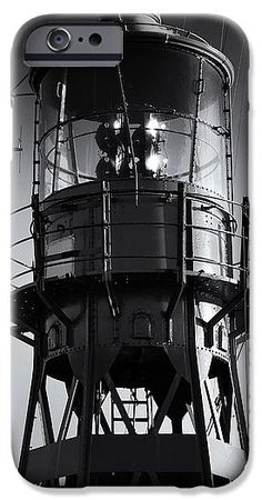 Antenna IPhone 6s Case featuring the photograph Lead Me Home Lightship. by Jan Brons. Close-up of old restored lightship.   Black and White image. Slight grain added.