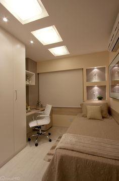 Cama encostada na parede - veja quartos de casal e solteiro com essa proposta…