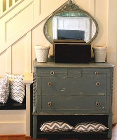 This is our baby boy's dresser / changing table - LOVE IT!
