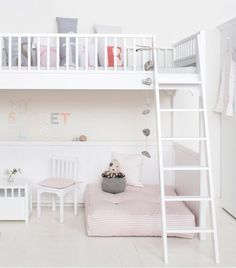 Modern White Loft Bed | Apartment Therapy