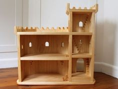Natural Wooden Play Castle