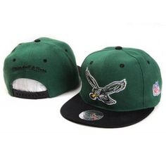 0d8ef772f23 Mitchell and Ness NFL Philadelphia Eagles Stitched Snapback Hats - Green