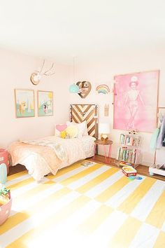 Pink shared girls' room