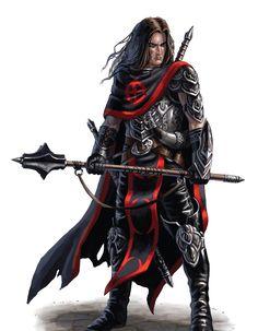 Evil Human Cleric - Pathfinder PFRPG DND D&D d20 fantasy