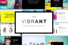 The VIBRANT - Powerpoint Template by PitchLabs.co on @creativemarket