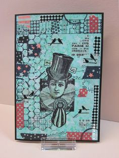 Henriette Geurkink - Gelli Plate, stamps and washi tape.