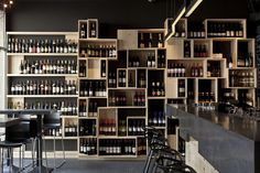 Divino Wine Bar by suto interior architects, Budapest-  Simple and very effective