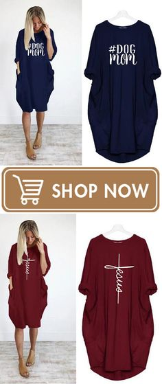 Letter Print Plus Size Autumn Women's Loose Pocket Irregular Dresses Hot Clothes, Clothes For Sale, Clothes For Women, Hot Outfits, Casual Outfits, Fashion Outfits, Love Fashion, Winter Fashion, Womens Fashion