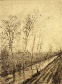 Ditch. by a young Van Gogh