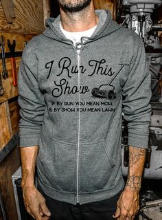 Fathers Day - Gift for Dad and Husband - Certified Zip Tie Technician - Gray Zip-Up Hoodie Sweatshirt - Handyman Wood Worker by DentzDesign slouchy sweater off the shoulder Screen Printing Press, Hooded Sweatshirts, Hoodies, Grey Zip Ups, Slouchy Sweater, Fathers Day Shirts, Zip Hoodie, Gifts For Dad, Im Not Perfect