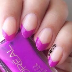 Neon Purple Chevron Tips by Nats N