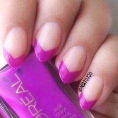 Neon Purple Chevron Tips by Nats N