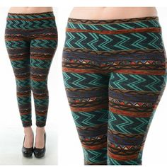 Zigzag print leggings