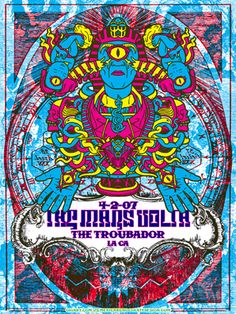 The Mars Volta Silk Screen Print Psychedelic Egyptian Trippy - Troubadour Poster
