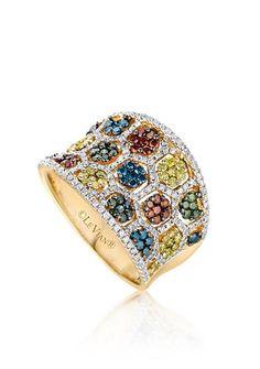 Le Vian® Multicolored Diamond Ring in 14k Honey Gold™