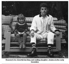 Ian Dury and his daughter Jemima