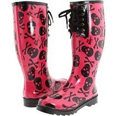 Blazin Roxx Women's Cream Sugar Skull Round Toe Rain Boots | Snow ...