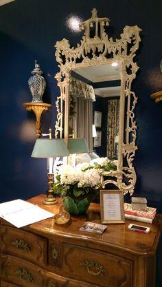 Home for the Holidays Designer Showhouse white chinoiserie mirror - LightsOnline Blog