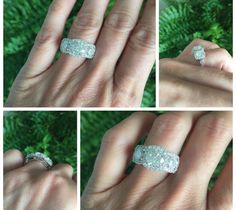 Moissanite Engagement Ring Forever One Moissanite Ring Natural Diamonds White Gold Anniversary Ring Pristine Custom Rings Buy Diamond Ring, Halo Diamond Engagement Ring, Diamond Cuts, Gold Solitaire Ring, Real Gold Jewelry, Moissanite Diamonds, Natural Diamonds, White Gold, Anniversary