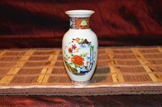 "Asian Porcelain Imari Ware Handcrafted Vase 6""x2 1/2"" Marked Japan"
